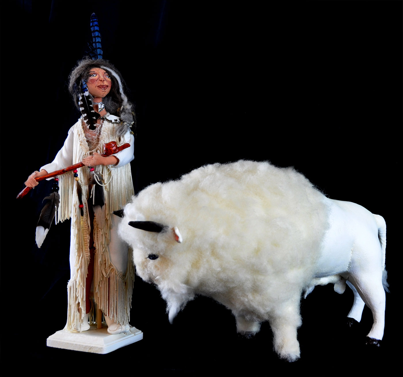 White Buffalo Calf Woman Doll - Handmade Dolls Online - Native American Doll