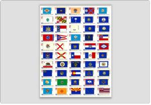 Bicentennial State Flags-Stamps Full Sheet 50