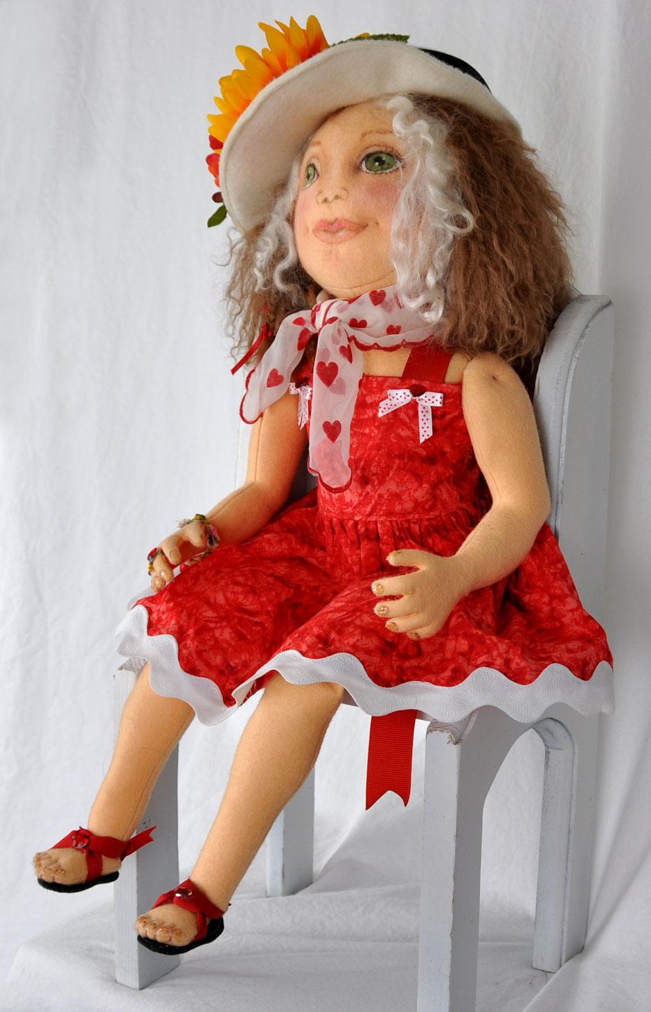 Wool Felt Girl Doll 3