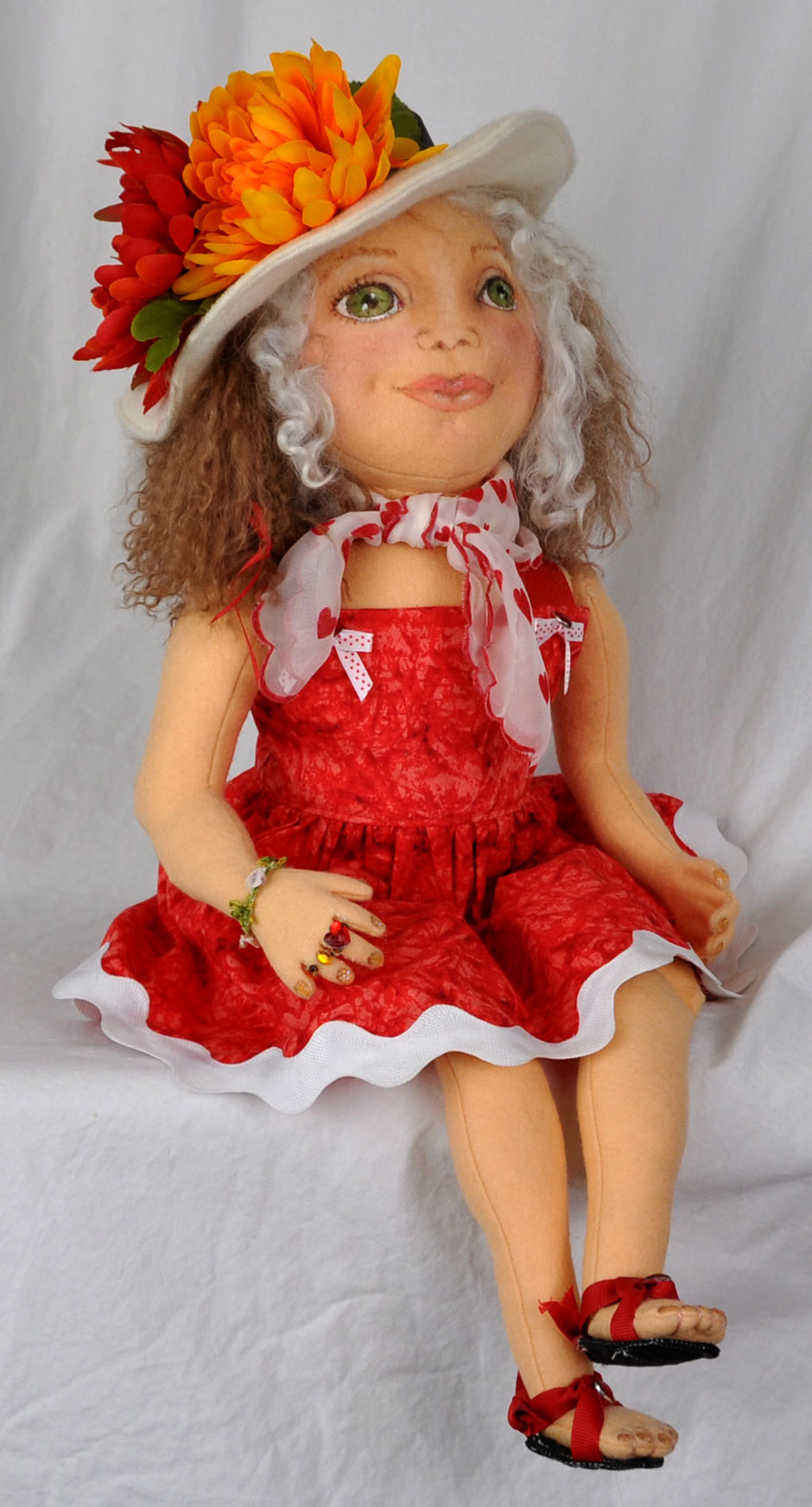 Wool Felt Girl Doll 2