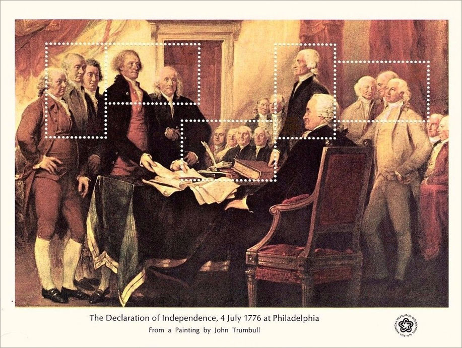 The Declaration of Independence 1776 Souvenir Sheet