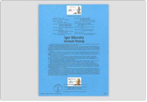 Igor Sikorsky Stamp USPS Souvenir Page