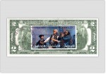 Two Dollar Bill Uncirculated First Day Issue Cancelled Spirit of 76 Stamps