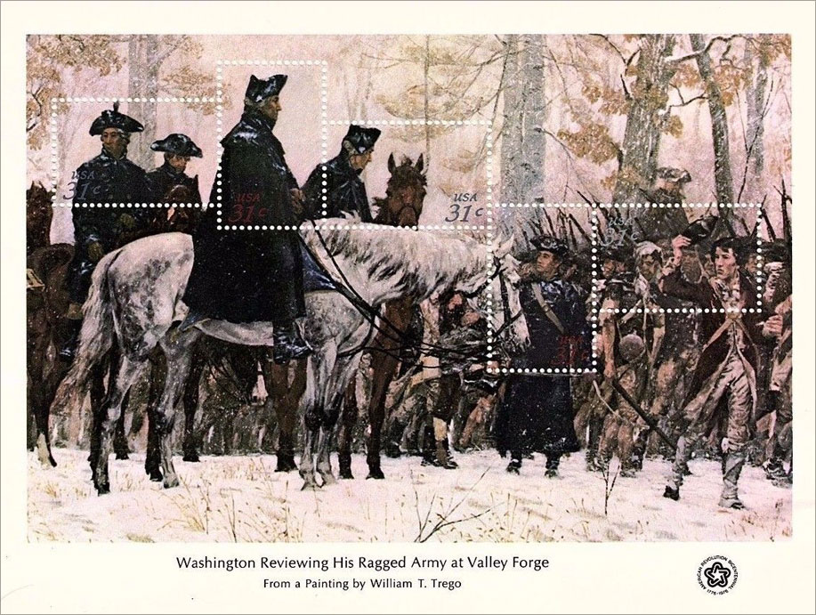 Washington Reviewing His Ragged-Army at Valley Forge