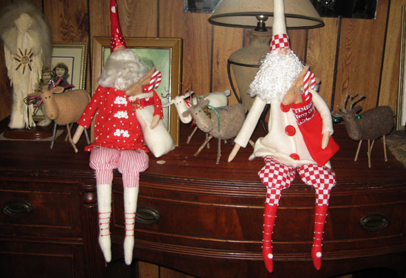 Tilda Santa Dolls For Craft Festival