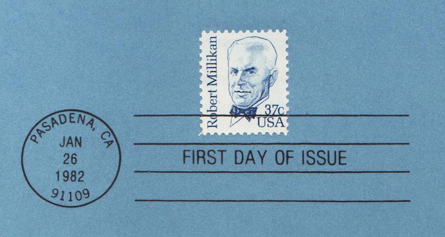 USPS Souvenir Page 37c Robert Millikan Stamp Detail