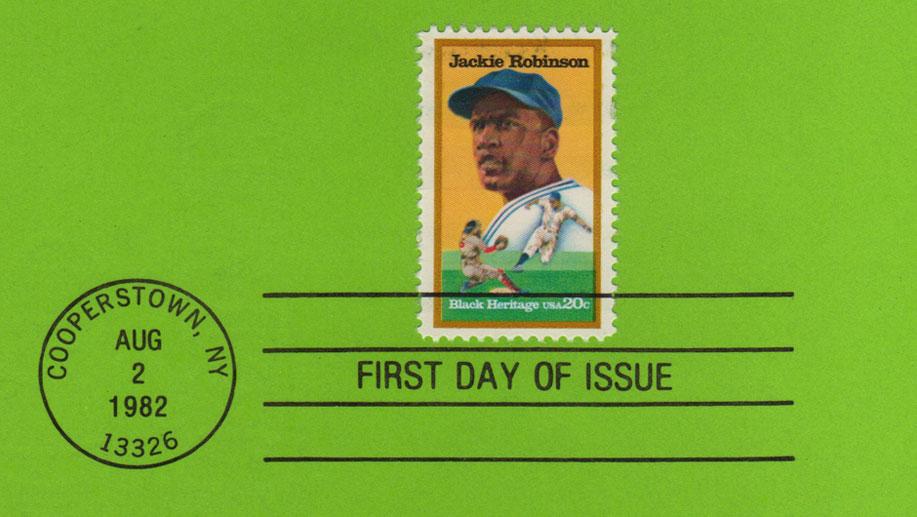 USPS Souvenir Page Jackie Robinson Detail