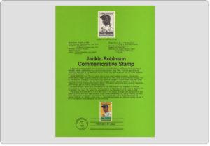 USPS Souvenir Page Jackie Robinson Stamp