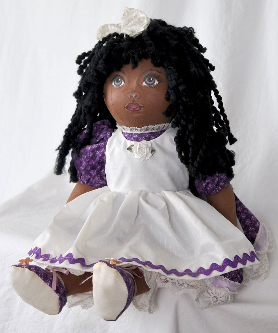 Cloth African Girl Doll 1