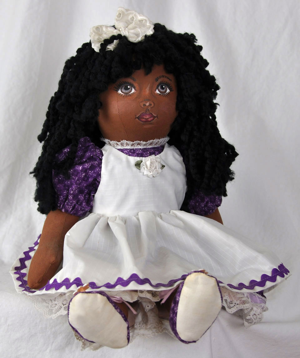 Cloth African Girl Doll 3