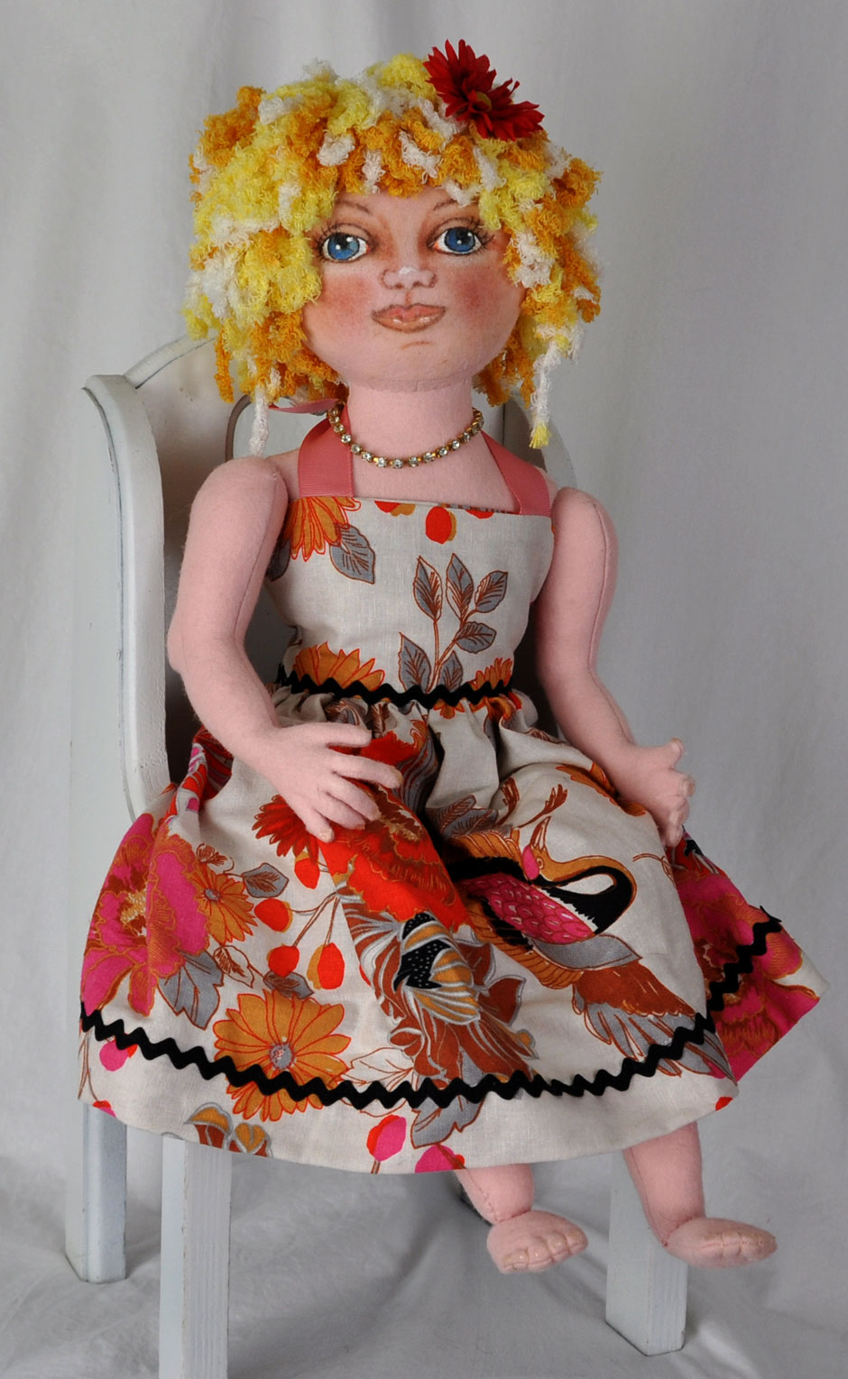 Angelique Wool Felt Girl Doll - Handmade Dolls Online