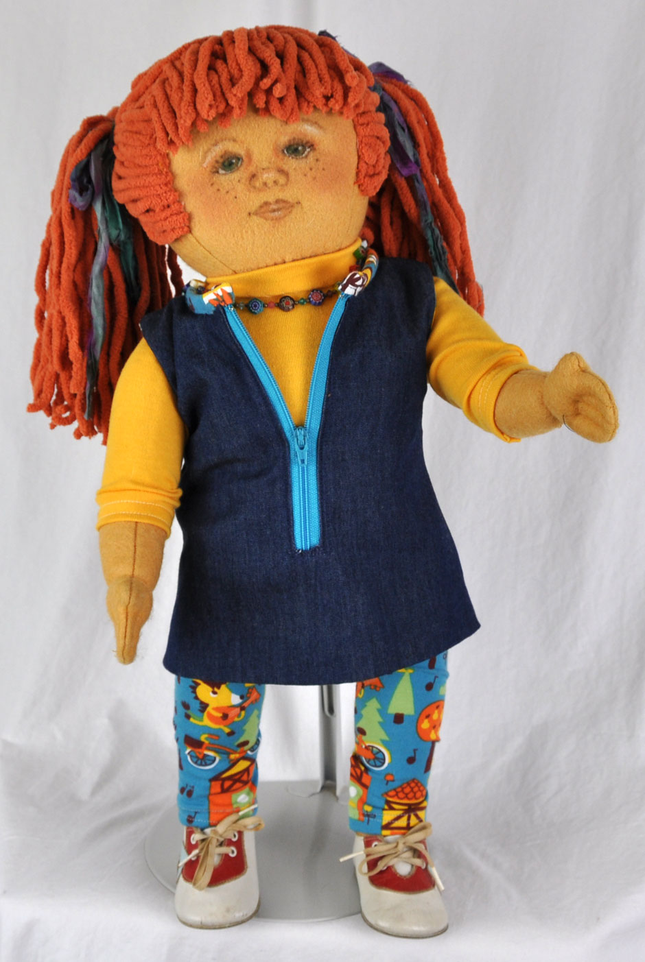 Country Cousin Wool Felt Girl Doll - Handmade Dolls Online