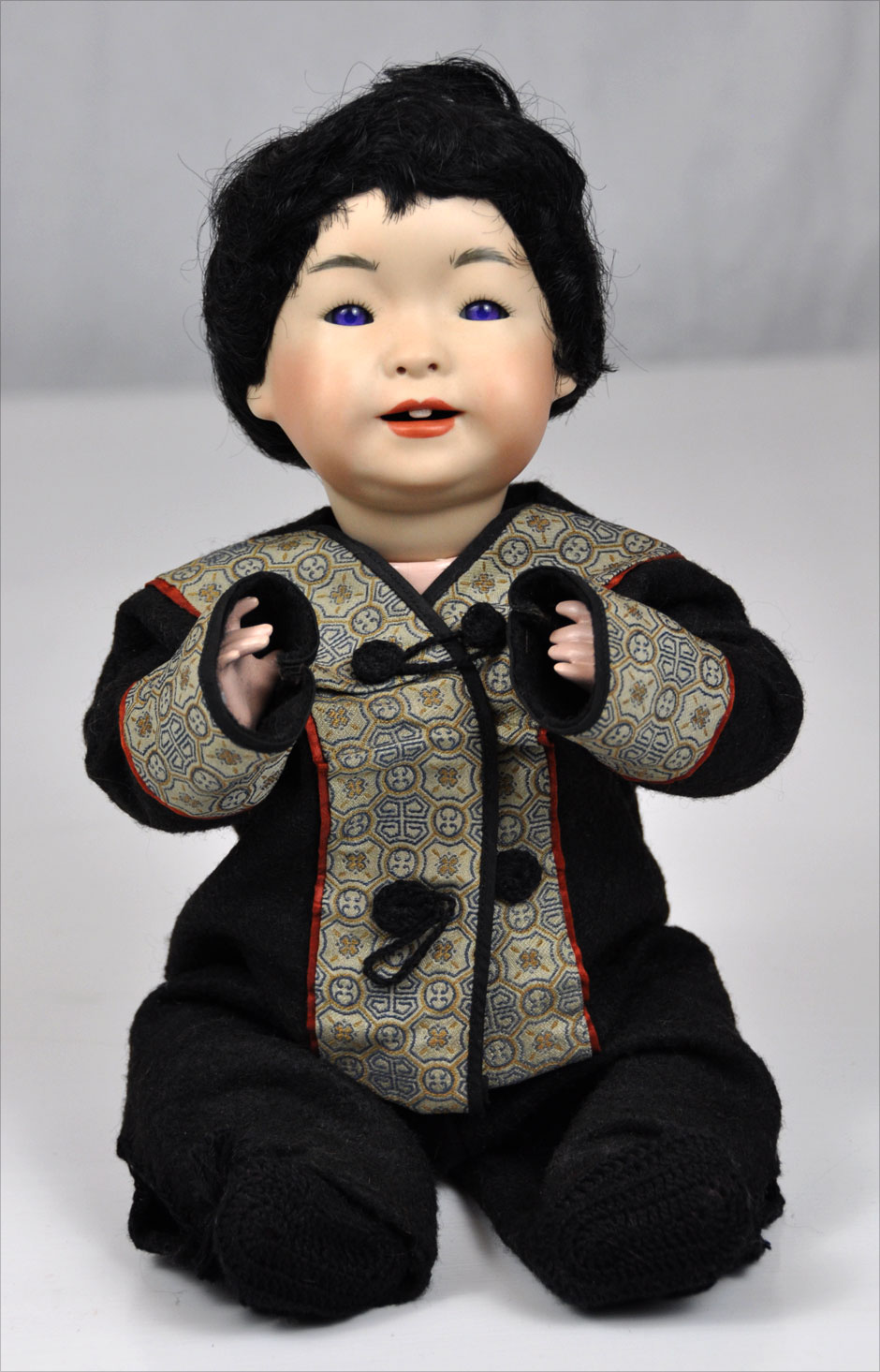 Antique Asian Reproduction Doll Porcelain 3