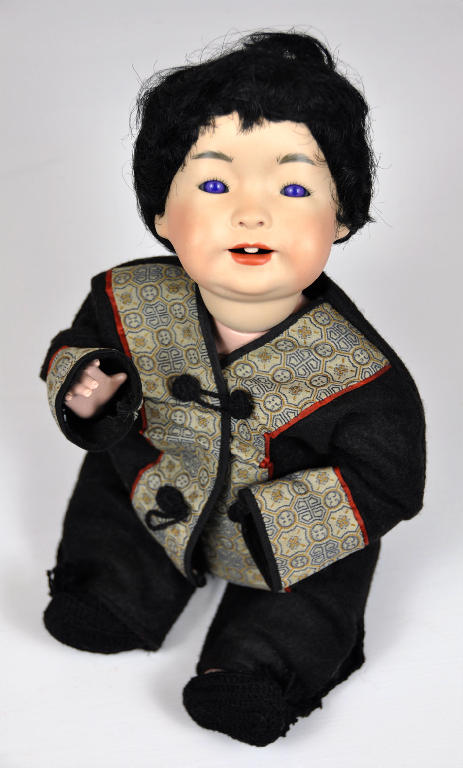 Antique Asian Reproduction Doll Porcelain 4