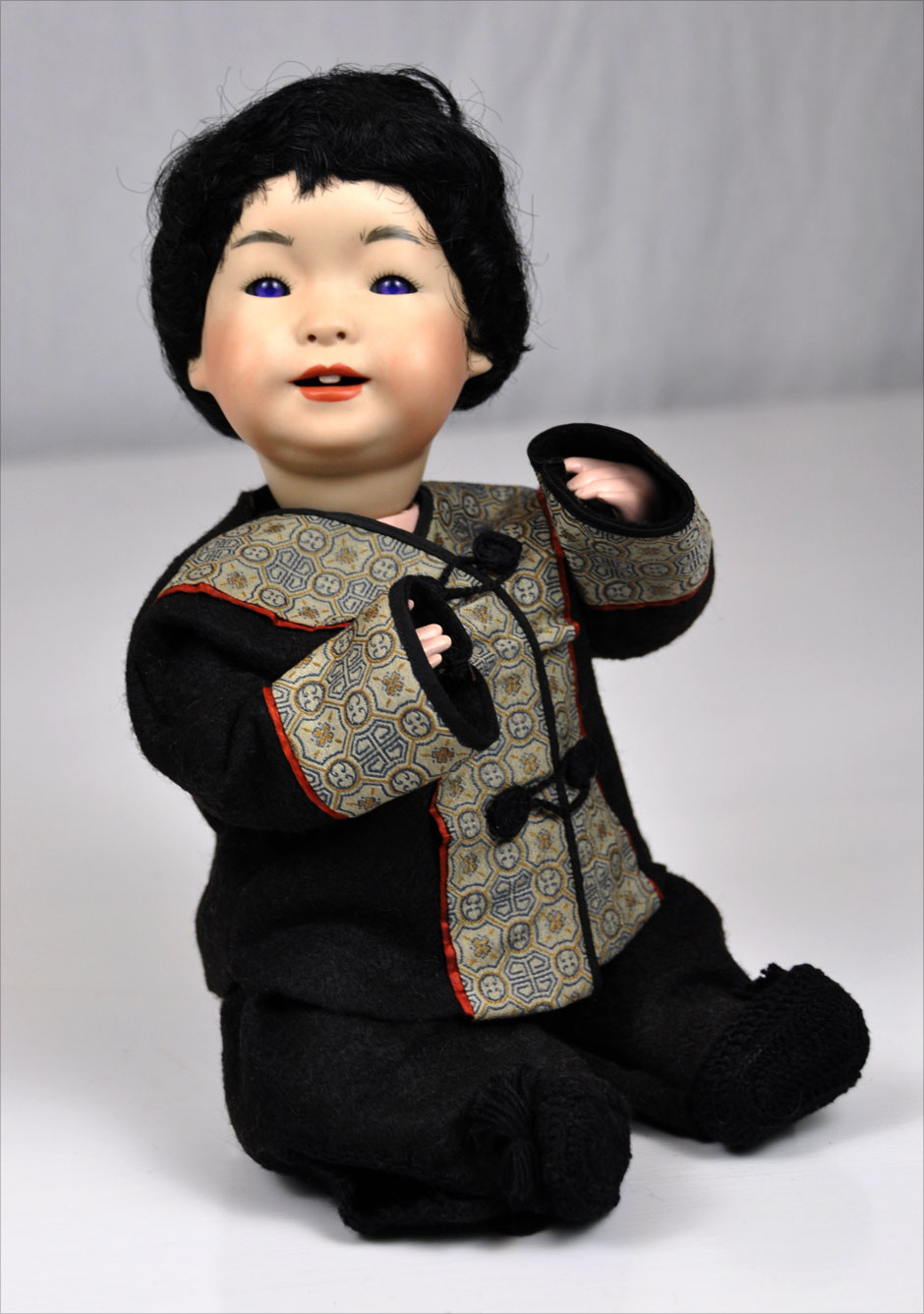 Antique Asian Reproduction Doll Porcelain 5