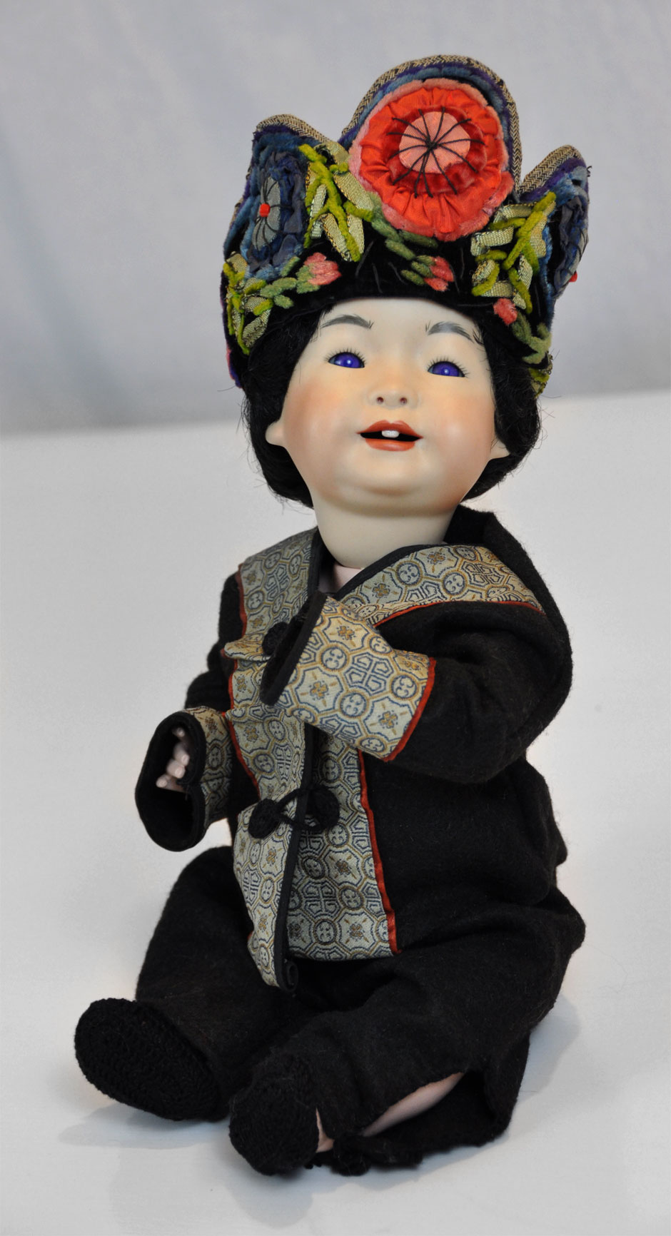 Antique Asian Reproduction Doll Porcelain 2