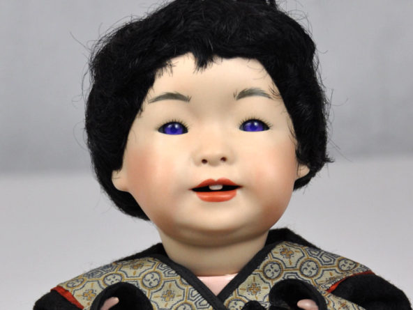 Antique Asian Reproduction Doll Porcelain
