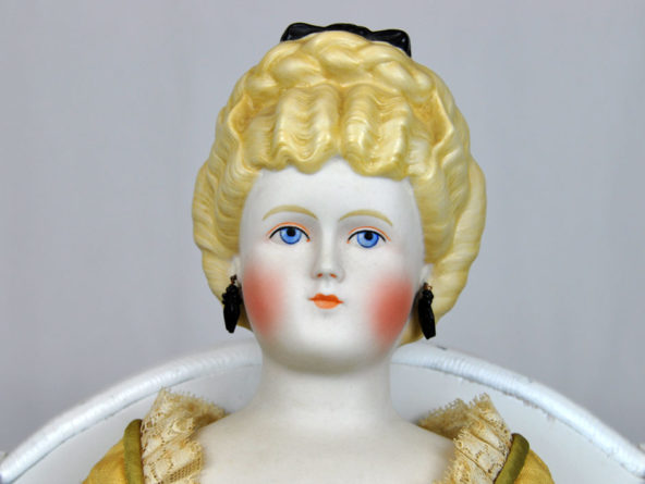 Vintage Emma Clear Doll Antique Parian China Head Reproduction