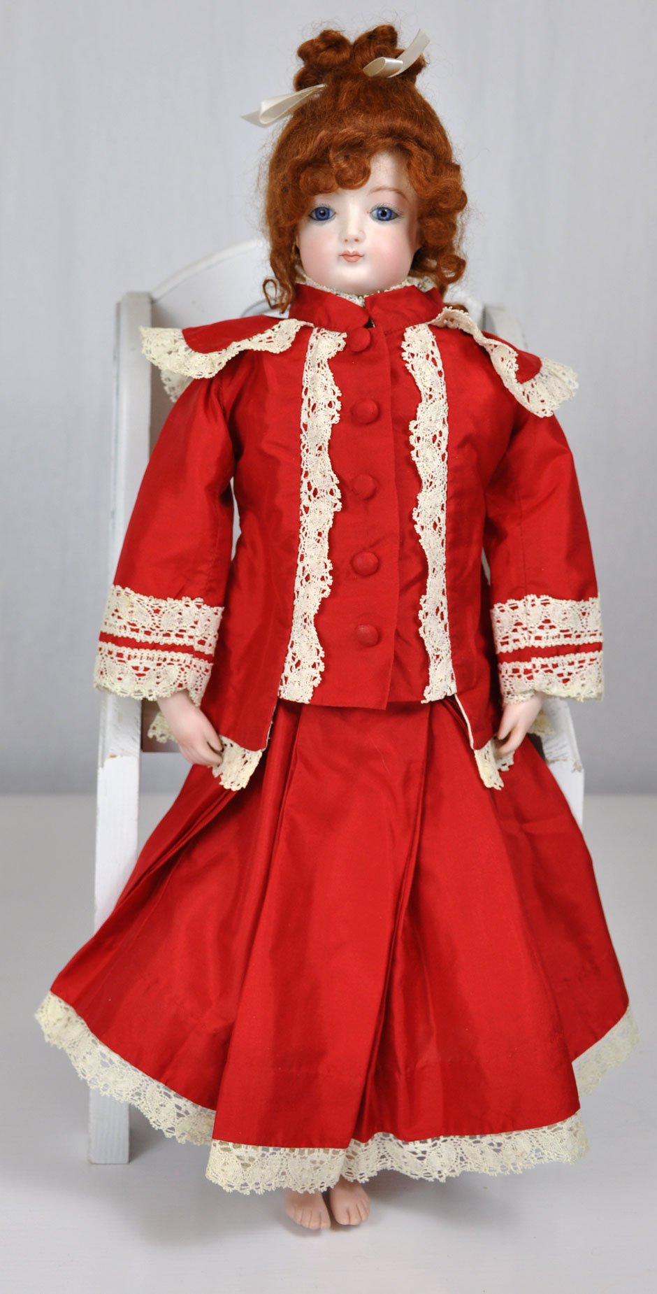 Jumeau French Repro Doll Front With Dress