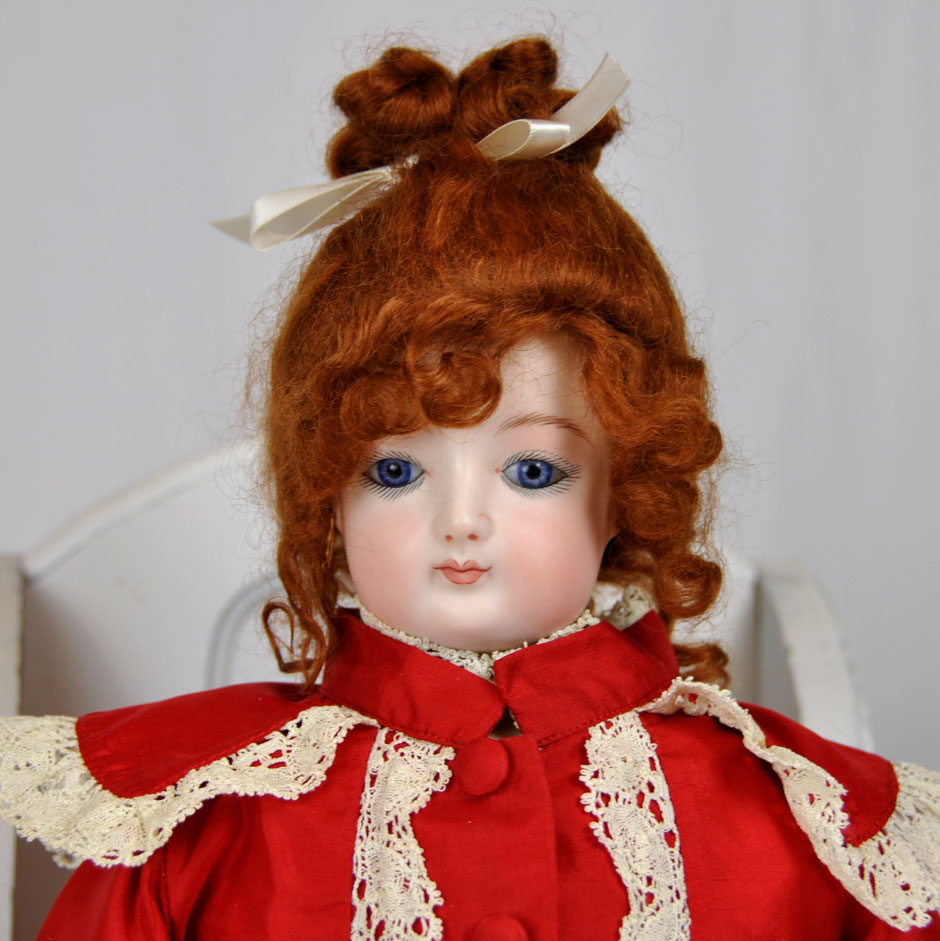 Jumeau French Repro Doll Portrait With Costume