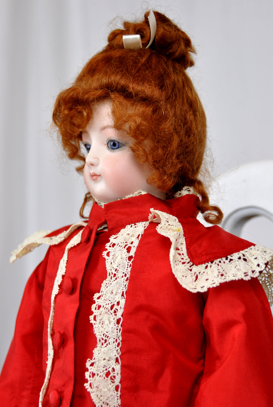 Jumeau French Repro Doll With Costume Side